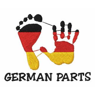 Lustige deutsche Teile gestickt Polo Hemd