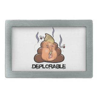 Lustige Donald- Trump - Trumpy-PooPoo Emoji Ikone Rechteckige Gürtelschnalle