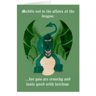Lustige Drache-Gruß-Karten Grußkarte