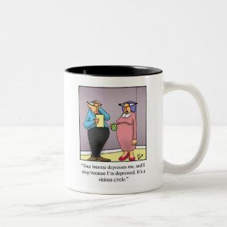 Lustige Ehefrau-EinkaufsSpaß-Tasse Zweifarbige Tasse