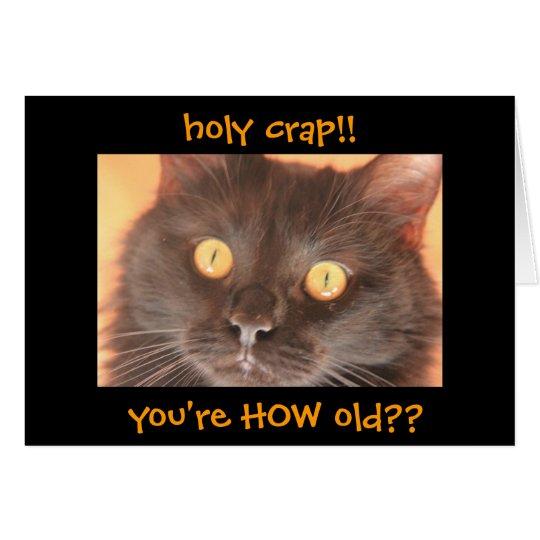 Lustige entsetzte Katzen-Geburtstags-Karte, über Karte
