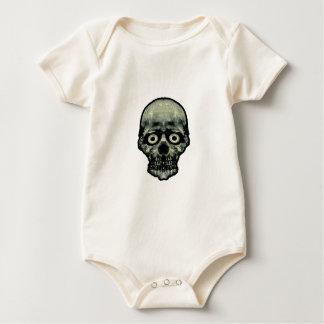 Lustige erschrockene Schädel-Grafik Baby Strampler