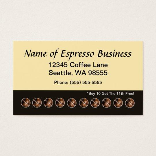 Lustige espresso lochkarte kaffeebohnen visitenkarten zazzle - Lustige visitenkarten ...