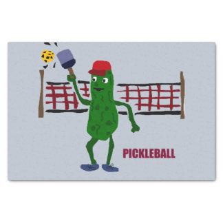 Lustige Essiggurke, die Pickleball Kunst-Entwurf Seidenpapier