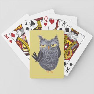 Lustige Eulen-Spielkarten Spielkarten