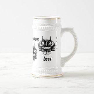Lustige Eulenstifttinte, die Bier-Tassenentwurf Bierglas
