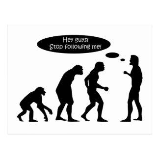 Lustige Evolution Postkarte