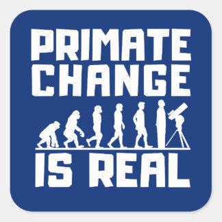 Lustige Evolutions-Primat-Klima-Änderung ist Quadratischer Aufkleber