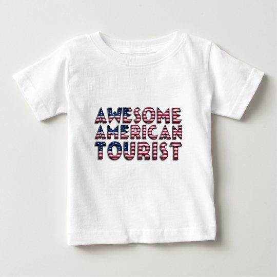 Lustige fantastische amerikanische touristische baby t-shirt