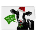 Lustige Feiertags-Kuh-frohe Weihnachten MOO-rry Karten