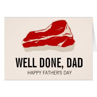 Lustige Fleisch Father Tageskarte Grußkarte