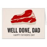 Lustige Fleisch Father Tageskarte Karte