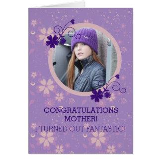 Lustige Fotogeschenk-Grußkarte der Mutter Tages Grußkarte