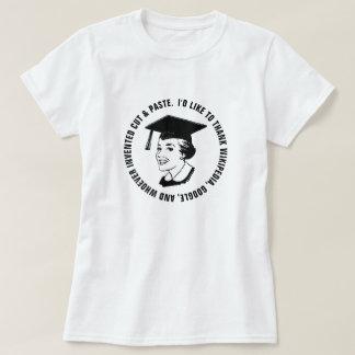 Lustige Frau-Absolvent-Dankbarkeit (schwarzer T-Shirt