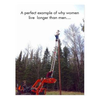 Lustige Frauen (Frau) GEGEN Mann-Postkarte, Postkarte