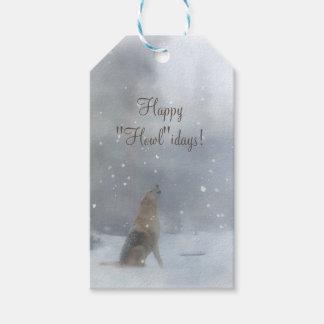 Lustige frohe Feiertage Geschenk-Umbauten mit Wolf Geschenkanhänger