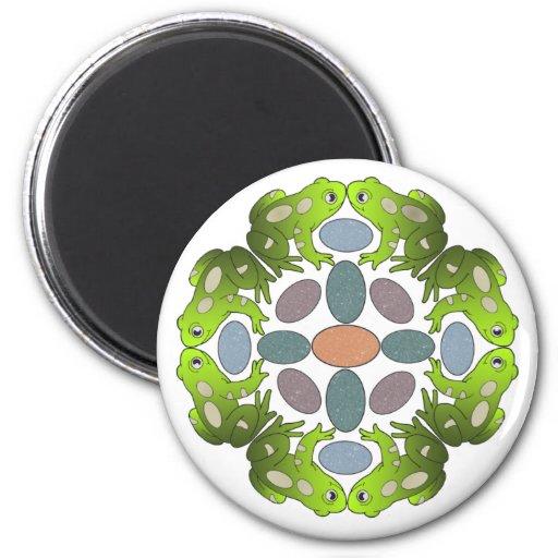 Lustige Frosch-Mandala Magnete