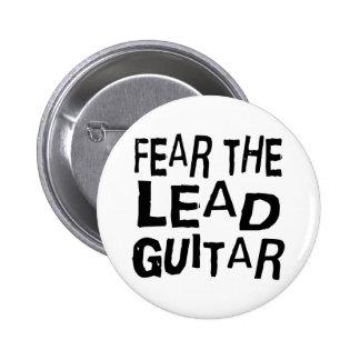 Lustige Führungs-Gitarre Runder Button 5,7 Cm