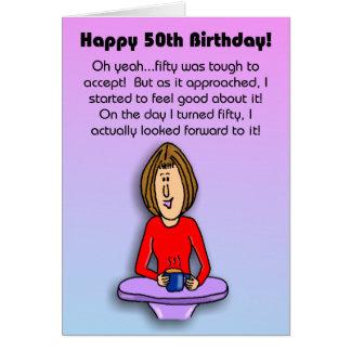 Lustige Geburtstags-Karte:  Feiern des 50. Karte