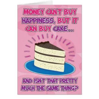 Lustige Geburtstags-Karte für Frau - Glück ist Grußkarte