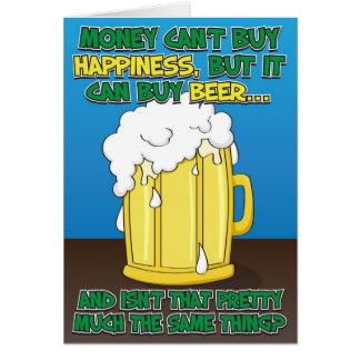 Lustige Geburtstags-Karte für Mann - Bier! Karte