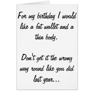 Lustige Geburtstags-Karte Grußkarte