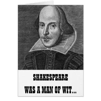 Lustige Geburtstags-Karte Shakespeare Karte