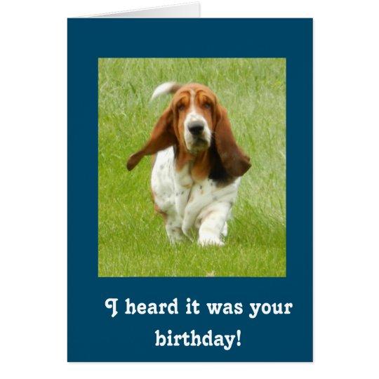 Lustige Geburtstagskarte Basset Hounds Karte