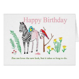 Lustige Geburtstagskarte für sie Karte