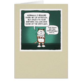 Lustige Geburtstagskarte: Katzen-Scheinwerfer Karte
