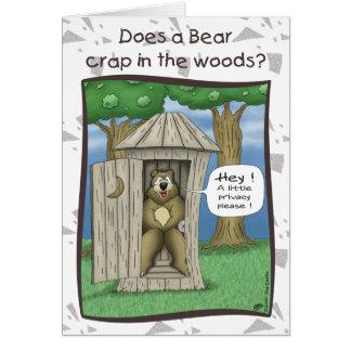 Lustige Geburtstagskarten: Bär im Holz Grußkarte