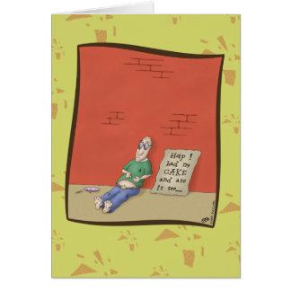 Lustige Geburtstagskarten: Befriedigender Tag Grußkarte