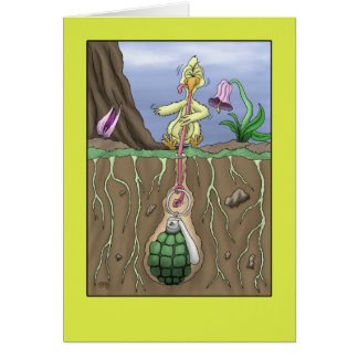 Lustige Geburtstagskarten: Frühaufsteher Karte