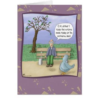 Lustige Geburtstagskarten: Tag am Park Grußkarte