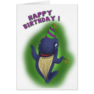 Lustige Geburtstagskarten: Wal eines Geburtstages Karte