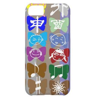 Lustige Gesichter, chinesische Schriftzeichen und iPhone 5C Hülle