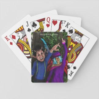 Lustige Gesichter Spielkarten