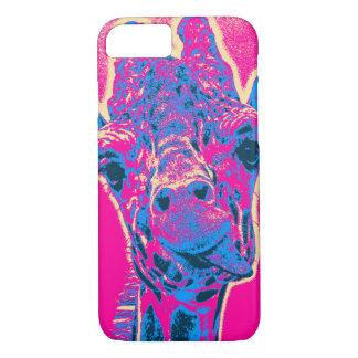 Lustige Giraffe, die heraus seine Zunge haftet iPhone 7 Hülle