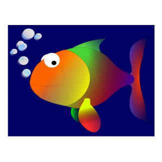 Lustige glückliche Fische Postkarte