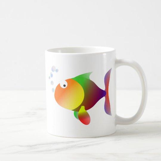 Lustige glückliche Fische Tasse
