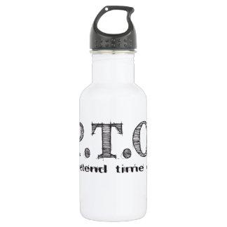Lustige Glückwünsche gefördert, um Zeit weg Trinkflasche