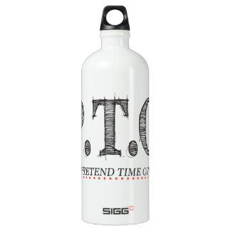 Lustige Glückwünsche gefördert, um Zeit weg Wasserflasche