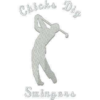 Lustige Golf-Küken-Grabungs-lebenslustige Typen Poloshirt