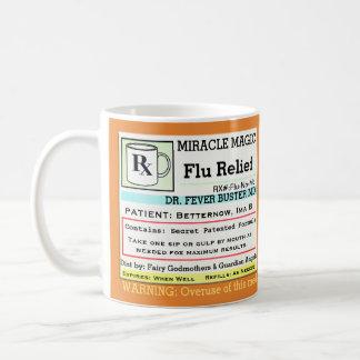 Lustige Grippe-Medizin der Verordnungs-RX Kaffeetasse