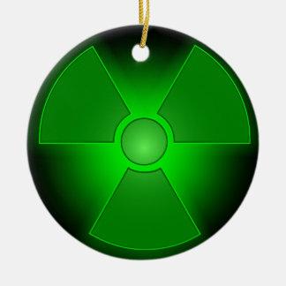 Lustige grüne glühende Radioaktivität Keramik Ornament