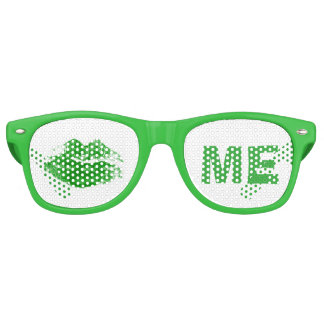 Lustige Grüne küssen mich Iren-St Patrick Tag Partybrille