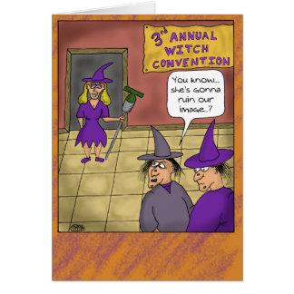 Lustige Halloween-Karten: Hexe-Versammlung Karte