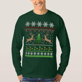 Lustige hässliche Weihnachtsstrickjacke T-Shirt