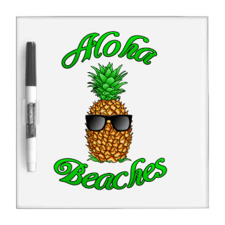 Lustige hawaiische Ananas-Aloha Strände Trockenlöschtafel