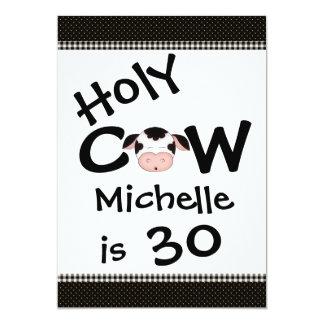 Lustige heilige Kuh-30. humorvolle Karte